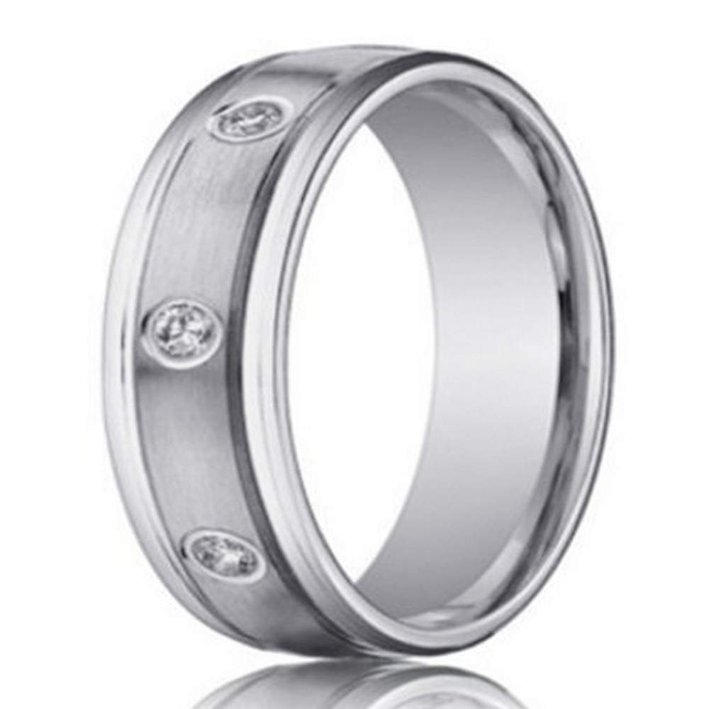 White Gold 14K Designer with 8 Round Diamonds | 4mm- JBD1006