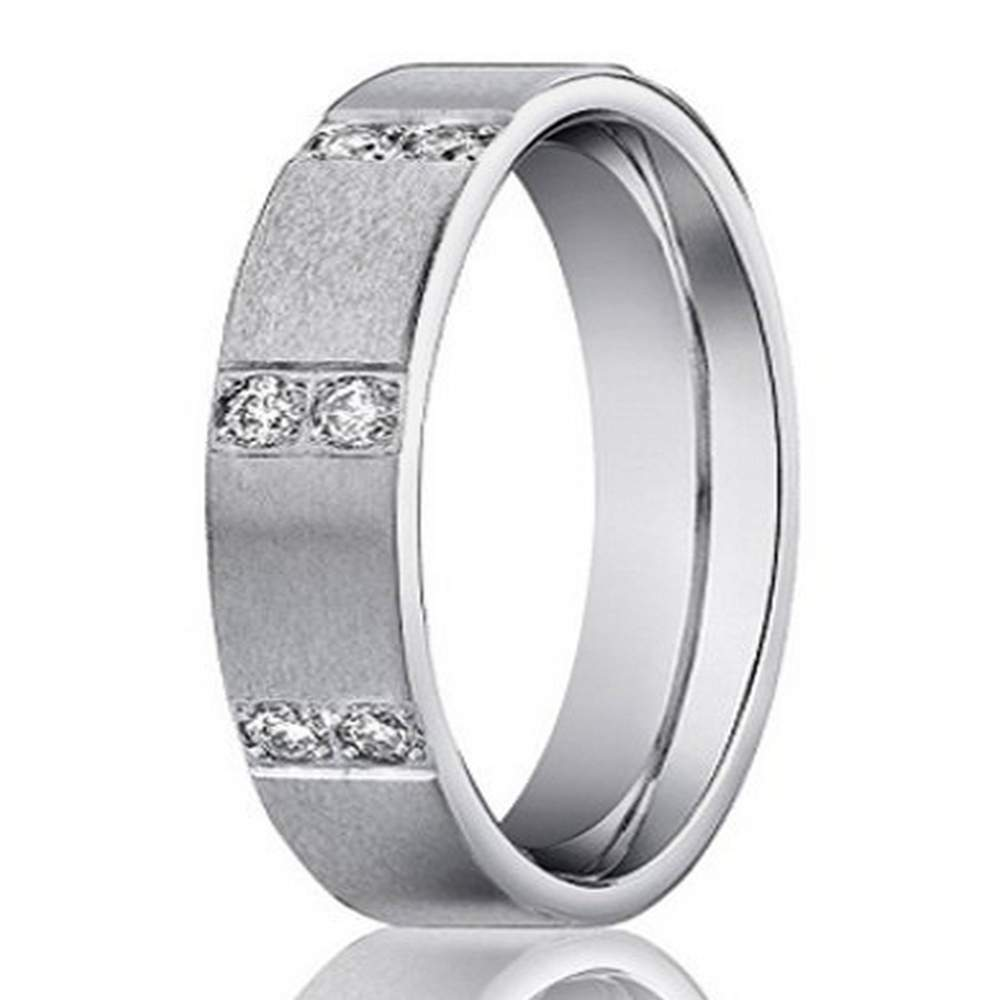 Quick View: Diamond Groom Wedding Bands At Reisefeber.org