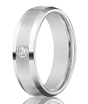 Designer Men's 14K White Gold Diamond Band with Satin Finish | 4mm - JBD1011