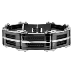 Men's Black PVD Stainless Steel Bracelet with Cables  - JBR1013