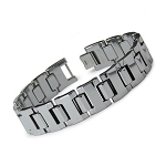 Men's Wide-Linked Tungsten Gladiator Bracelet  - JBR1016