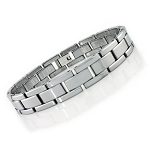 Men's Tungsten Bracelet with Polished Links - JBR1019