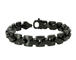 Stainless Steel Men's Bracelet With Black Polished Finish
