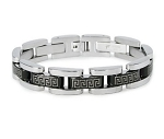 Men's Stainless Steel Bracelet With Greek Design