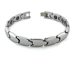 Men's Tungsten Bracelet With High Polished Links and Magnets