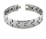Tungsten Bracelet For Men With Puzzle Piece Links and Magnets