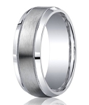 Designer Argentium Silver Men's Ring With Milgrain Edge | 9mm
