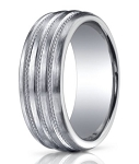 Designer Argentium Silver Braided Men's Wedding Ring | 10mm