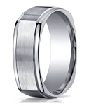 Designer Argentium Silver Four-Sided Design Men's Ring | 10mm