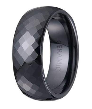 Men's Ceramic Fashion Rings