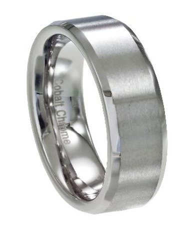 cobalt chrome wedding bands - Cool Wedding Rings For Guys
