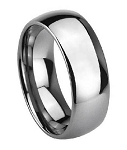 Men's Polished Domed Cobalt Chrome Wedding Band | 8mm - JCB0106