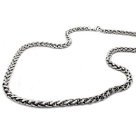 Celtic Style Men's Necklace in Polished Stainless Steel - JN1018