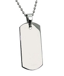 Stainless Steel Dog Tag Pendant For Men With Polished Finish