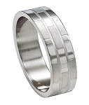 Stainless Steel Band with Two Finishes - JSS0041