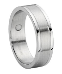 Men's Stainless Steel Wedding Ring with Therapy Magnets | 8mm