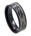 Black Stainless Steel Dragon Ring - JSS0095