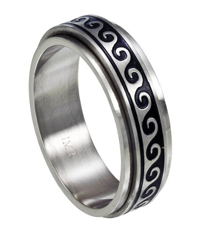 Antiqued Wave Spinner Ring Just Men S Rings