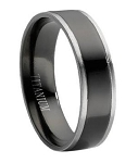 Titanium Black Wedding Band - JT0011