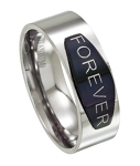 Forever Men's Ring in Polished Titanium | 8mm