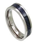 Men's Titanium Black Carbon Fiber Ring | 7mm - JT0147