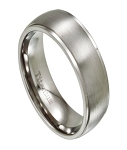 Titanium Wedding Band for Men, Classic Domed Profile | 8mm