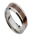 Men's Titanium Ring with Hawaiian Mango Wood Center Inlay | 8mm