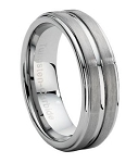 Carved Tungsten Carbide Wedding Band - JTG0026