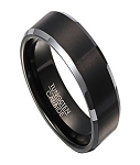 Wedding Ring for Men in Tungsten with Black IP Center | 8mm