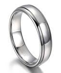 Tungsten Wedding Ring for Men With Polished Dome Profile | 7mm
