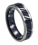 Tungsten and Black Ceramic Ring - JTGC0046