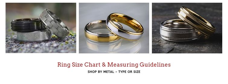 Just Mens Rings Size Chart