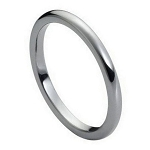 Tungsten High Polished Dome Slim Width Band - 2mm