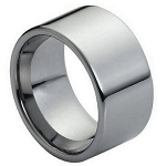High Polished Pipe Cut Tungsten 12mm Ring