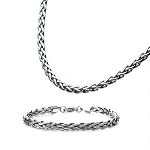 Stainless Steel 6mm Spiga Chain or Bracelet