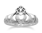 Sterling Silver Oxidized Claddagh Ring