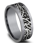 Benchmark 8mm Black Titanium Forrest Design Center with Tantalum Edges
