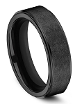 Benchmark Black Titanium Swirl Center Beveled Edge Comfort Fit Band l 7mm