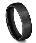 Benchmark Black Titanium Satin Finish Comfort Fit Band l 6.5mm