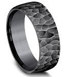 Benchmark 8mm Black Tantalum Hammer Finish Ring