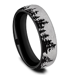 Benchmark 6.5mm Contrast Tree Line Pattern Black Ring