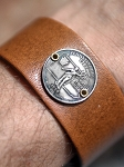 Men's State Quarter Leather Bracelet