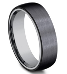 Designer Black Titanium Outer Band with an Inner Tantalum Band 6.5mm
