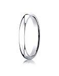 14K White Gold 3mm Slightly Domed Super Light Comfort-Fit Ring