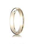 Designer 14K Yellow Gold 4mm Slightly Domed Super Light Comfort-Fit Ring