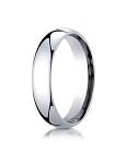 Designer 14K White Gold 5mm Slightly Domed Super Light Comfort-Fit Ring