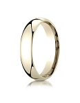 Designer 14K Yellow Gold 5mm Slightly Domed Super Light Comfort-Fit Ring