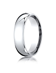 Designer 14K White Gold 6mm Slightly Domed Super Light Comfort-Fit Ring