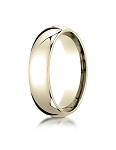 Designer 14K Yellow Gold 7mm Slightly Domed Super Light Comfort-Fit Ring