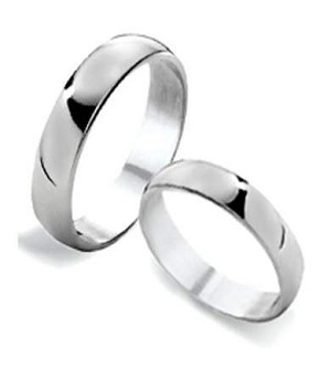 His and Hers Classic Sterling Silver Wedding Rings | 4mm